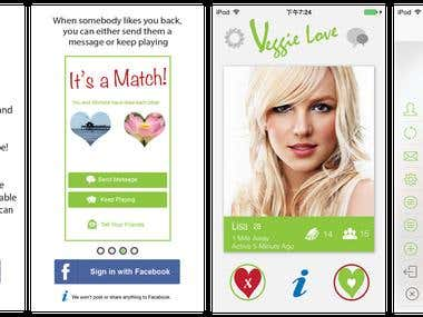 Veggie Love(Tinder clone App)