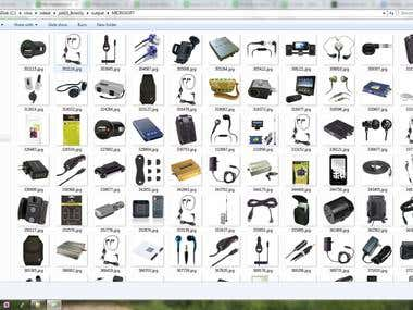 Scrape images + details from http://www.tessco.com