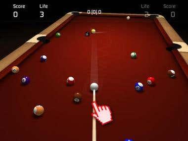 iOS 3D Billiard Game