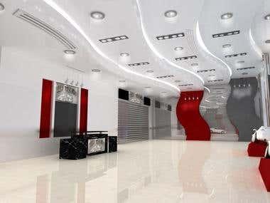 Nissan car showroom in abodabi