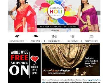 e commerce for Saree