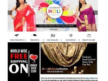 e commerce for Saree