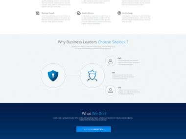 Website Mockup Design for Website security...