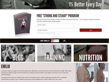 MSHOCOFITNESS (Ajax,wordpress)