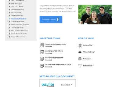 KMBC Content Page Design
