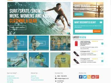 SURFGAP (Ajax,wordpress)