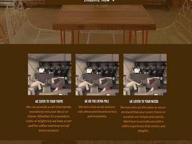 Coffee Carts Website