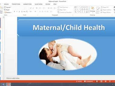 MS powerpoint based off specific information