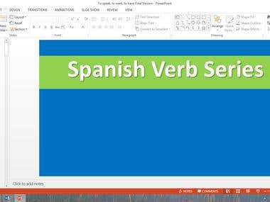Spanish Verb Presentation