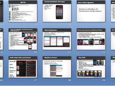 BlackBerry Z 10 Awesome PowerPoint animation text