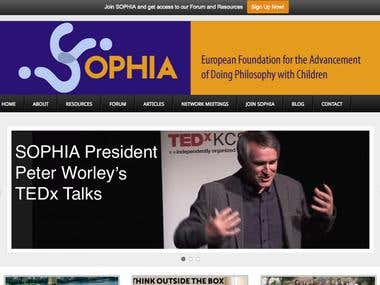 Sophia Network Website