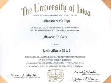MA Diploma Linguistics/TESL