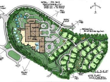 Sentul resort conceptual planning