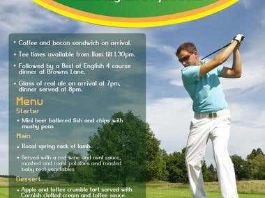 Flyer for a GOLF DAY