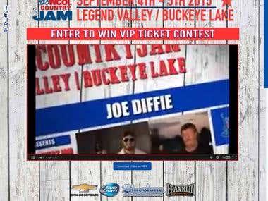Website for CountryJAM Music Festival