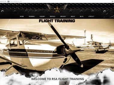 Flight Training Website Development