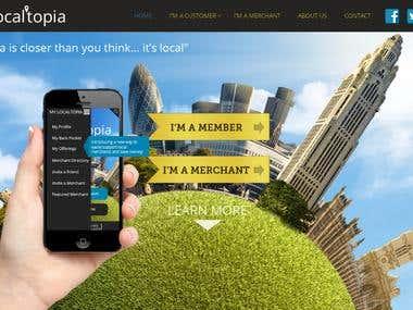 Website for The Localtopia App