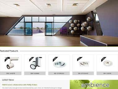 Ambience Website Design and Development