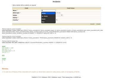 DataGrid AJAX/MySQL Autofill Form Modification