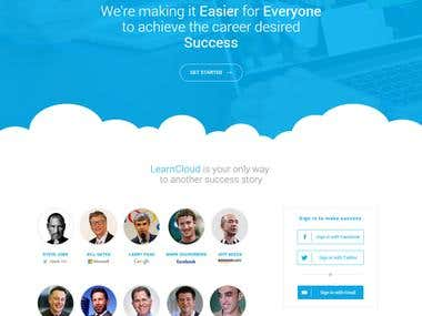 LearnCloud Contest Winner - PSD to Responsive Landing Page