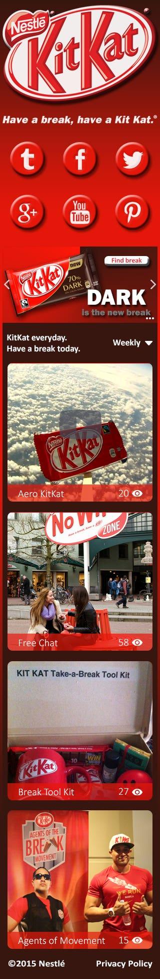 KitKat redesign responsive website