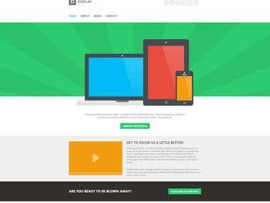 Display website template