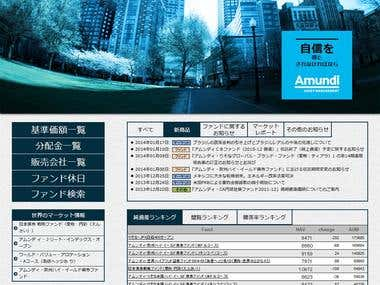Redesign Amundi website