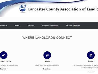 Association website for County Club