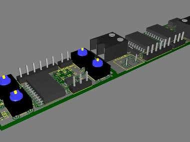 Circuit schema and PCB design and 3D modeling