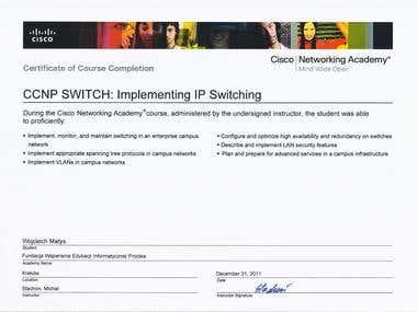 CCNP IP SWITCHING