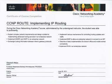 CCNP Routing certificate