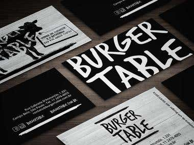 Visual Identity Burger Table