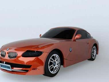 3D BMW Z4 Coupe   modeling & rendering
