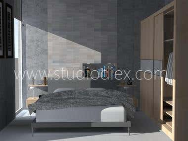 Bedroom design for Studio Diex (C)