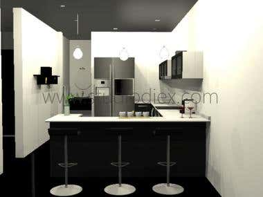 Kitchen design  For: Studio Diex (C)