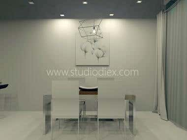 Lounge style dinning room For: Studio Diex (C)