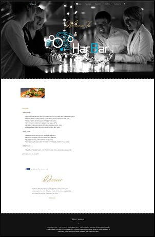 Re Design website for Harbar Cafe / Restaurant