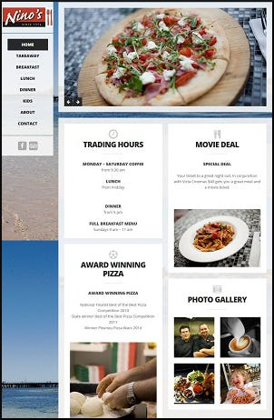 Design a new website for Ninos Cafe