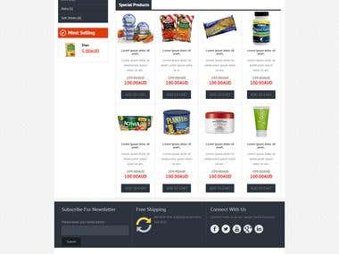 E-Commerce / Online Shopping Website for Grocery Store