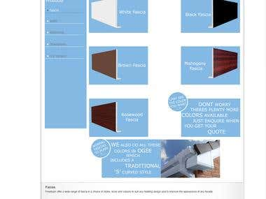Fascias page of a website i just finished