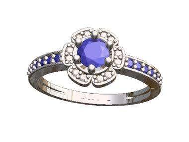 Sapphire Elegant Ring