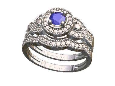 Enggagement set Ring