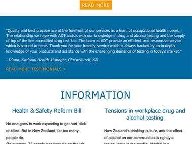 Mailchimp Template for Drug & Alcohol Testing Company