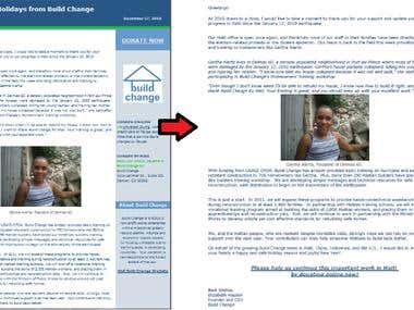 Webpage Conversion to PDF