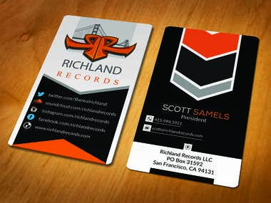 Contest Wining Business card Design