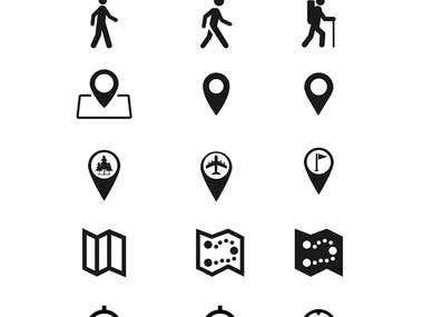 GPS Icon Vector Design