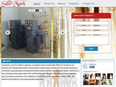 Sun Mark Battery Website