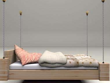 Hanging bed 3D