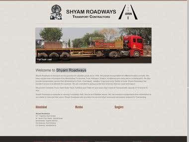 Shyam Roadways - Responsive and wordpress website