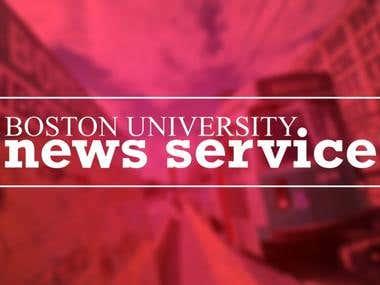 Boston University News Service Branding & Web Design